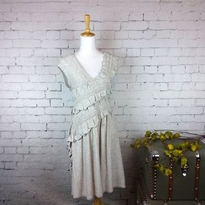 Anthropologie Knitted & Knotted ruffled swtr dress